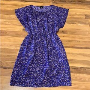 Blue & gold dress